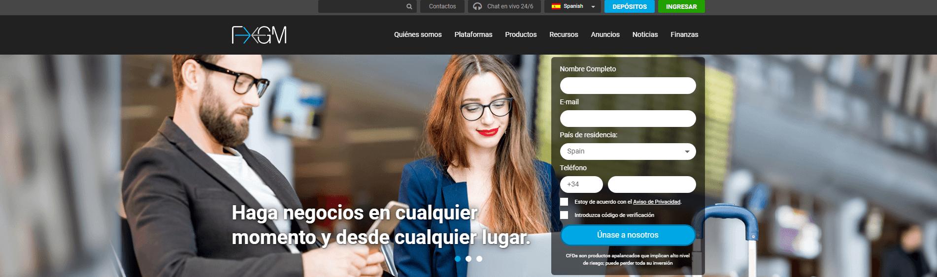 FXGM España es bróker regulado
